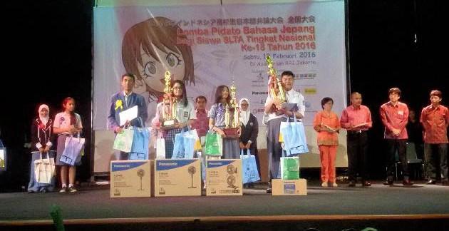 Pemenang Lomba Pidato Bahasa Jepang Tingkat Nasional ke-15
