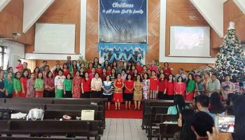 Perayaan Pra Natal SMA N 9 Manado 2016
