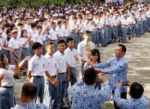 Upacara Bendera memperingati HUT RI ke-72 SMA N 9 Manado